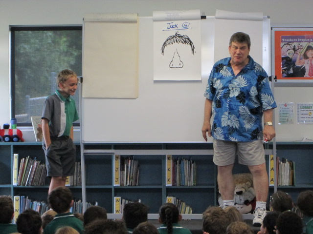 Author, Michael Salmon, inspires students